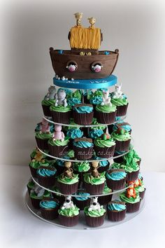 Noahs Ark Christening tower :) by donna_makes_cakes, via Flickr