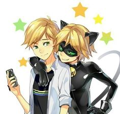 Chat Noir, miraculous ladybug, and animation image