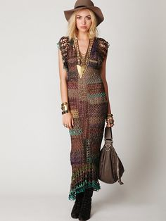 Free People FP Spun Fools Gold Crochet Dress, $498.00
