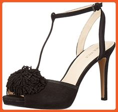Nine West Women's Essen Suede Dress Sandal, Black, 8 M US - Sandals for women (*Amazon Partner-Link)