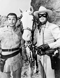 "Lone Ranger: still with Moore and Silverheels from the ""Lone Ranger"" television series, 1951"