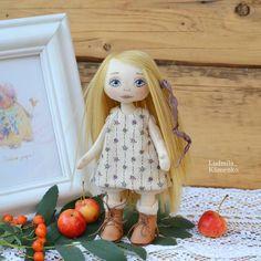 40 отметок «Нравится», 6 комментариев — Куклы 🌸броши🌸Людмила Клименко (@ludmila_klimenko) в Instagram: «Вот и маленькая девочка ростом всего 20 см. Проба новой выкройки, не мой размерчик конечно, но…»