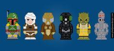 The Bounty Hunters - Star Wars pattern by PixelPower