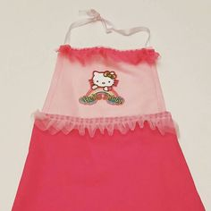 Check out this item in my Etsy shop https://www.etsy.com/listing/240890903/hello-kitty-girls-apron-and-smock