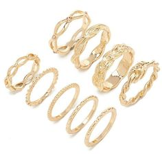 Forever 21 Twisted Band Ring Set ($5.90) ❤ liked on Polyvore featuring jewelry, rings, forever 21, forever 21 rings, channel-set band ring, twist ring and forever 21 jewelry