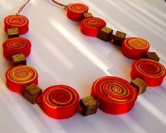 Collane in feltro - Collana in feltro - un prodotto unico di Ifffka su DaWanda