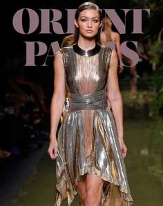 Marvelous metallic Gigi;) -  Léonard Paris – 34 photos - the complete collection