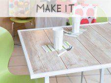 DIY : Fabriquer une table à partir de lames de parquet