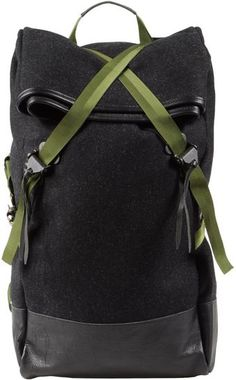 CHRISTOPHER RAEBURN, RUCKSACK: crisscross straps and hainsworth fabric.
