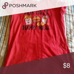 T shirt lightly worn Red (no rips no stains) Hi guys, I'm new to Posh. I usually just buy things from different Poshers. Please check out my closet. I welcome trades, deals, & bundles. I'm open to any questions or concerns. Just ask!!!Thank you guys for shopping with me. The pleasure is all mine!!! Tops Tees - Short Sleeve