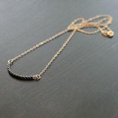 amelia gold minimalist necklace by elephantine by elephantine. $36.00, via Etsy.