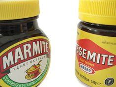 Vegemite, Marmite, Cenovis comparison.