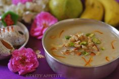 Happy Tamil New Year & Vishu / New Year Special Recipes / Coconut Milk Payasam Easy Delicious Recipes, Yummy Food, Tasty, Ireland Food, Coconut Milk, Cheeseburger Chowder, Soup, Meals, Healthy