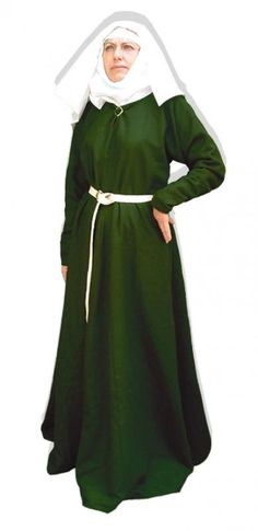 Dress 12th – 14th century | (Early-) medieval dresses | celticwebmerchant The Wimple!