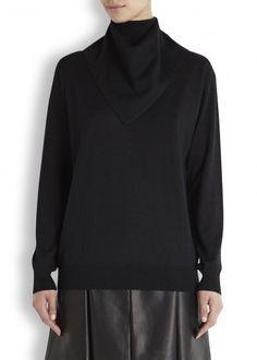 Black bandana wool and silk blend jumper - Women
