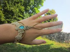 bohemian ring bracelet from pusarin by DaWanda.com