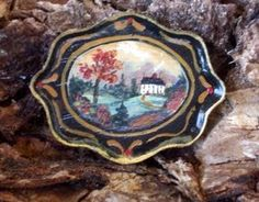 Hand painted folk art tray  $25.00 SOLD