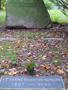 Visit Katharine Hepburn's grave at Cedar Hill Cemetery in Hartford. Cryptic, but what an icon....