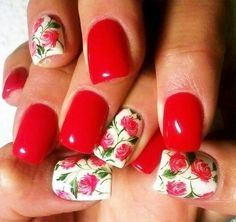 This is my version of cutepolish's floral nails