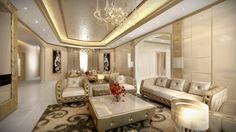 Suwaidi Private Residence   Aristo Interior Design   Luxury Living Room   Dubai