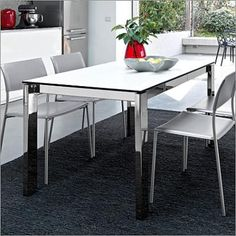 Calligaris Sincro Table in Ceramic Lead Grey with Matt Taupe Base ...