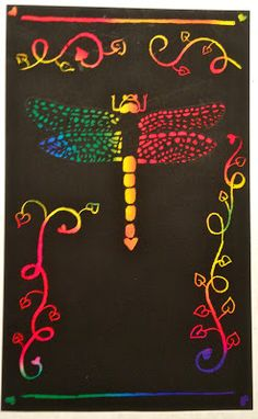 Love Bugs for Valentine's Day. Scratch Art Lesson Plan.