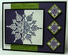 VSN Eggplant Snow by Jace - Cards and Paper Crafts at Splitcoaststampers