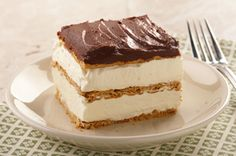 "Graham Cracker Eclair ""Cake"" recipe - Been looking for this recipe for years!"