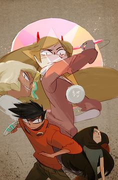 ping pong x star vs the forces of evil.