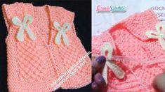 ŞİŞLE DEĞİŞİK BEBEK YELEK YAPILIŞI TÜRKÇE VİDEOLU | ÖRGÜVAKTİ Crochet For Kids, Crochet Baby, Crochet Fashion, Baby Kids, Vest, Anne, Crochet For Baby