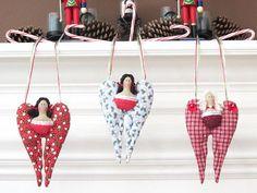 Christmas Angel Ornament  Stocking Stuffer by HappyDollsByLesya