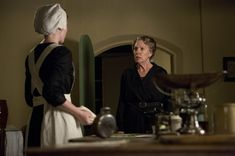 Downton Abbey S03E06: Amy Nuttall as Ethel Parks and Penelope Wilton as Isobel Crawley