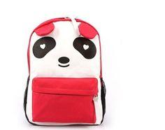Plain 2 Pocket Backpack Rucksack School Bag Panda Logo Canvas Shoulder Bag Backpack (Red) by unbrand, http://www.amazon.com/dp/B00DJPIB5Y/ref=cm_sw_r_pi_dp_BZCYrb00C1J27