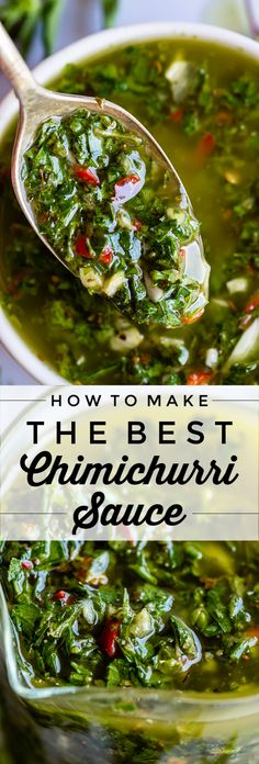 How to Make Easy Chimichurri Sauce from The Food Charlatan. Chimichurri sauce is. - How to Make Easy Chimichurri Sauce from The Food Charlatan. Chimichurri sauce is the king of marinad - Ground Beef Recipes, Steak Recipes, Grilling Recipes, Sauce Recipes, Chicken Recipes, Cooking Recipes, Ramen Recipes, Recipies, Easy Healthy Recipes