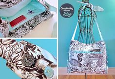 DIY Button Craft: DIY Creativity is in the Bag: Toile Tote with Button Accents