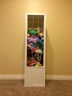 IKEA Kallax for stuffed animal storage. Inspired by Pinterest; designed and constructed by Lisa Mike Irwin.