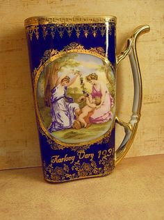 Vintage healing Cherub portrait Cup from Karlovy Vary with the neatest Vintage Antiques, Vintage Teacups, Shape And Form, Antique Items, Cherub, Czech Republic, Cup And Saucer, Things To Come, Healing