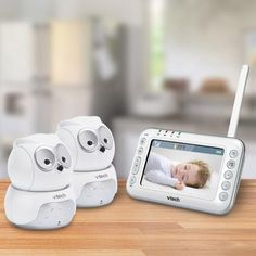 VTech Owl Digital Video Baby Monitor with Two Pan & Tilt Cameras and N – Baby R' All