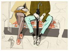 Alex Green www.folioart.co.uk/illustration/folio/artists/illustrator/alex-green - Agency: www.folioart.co.uk - #illustration #art #fashion #sketch
