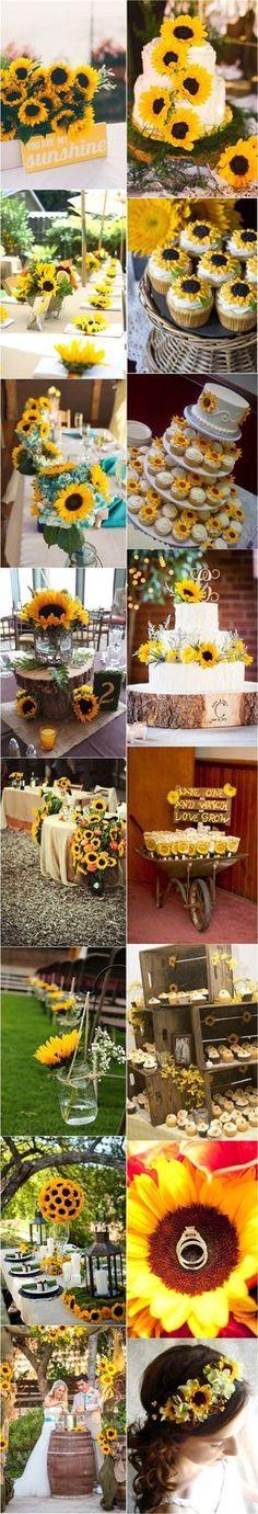 Sunflower Wedding Ideas and Wedding Invitations - Dekor Ideen Trendy Wedding, Perfect Wedding, Fall Wedding, Rustic Wedding, Our Wedding, Dream Wedding, April Wedding, Wedding Rings, Wedding Table