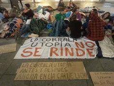 Cañamero, yay@flautas y estudiantes se suman a #AcampadaUtopía en Sevilla