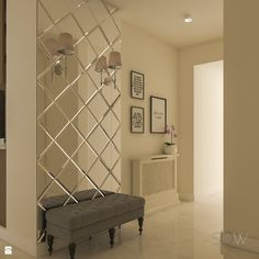 Mirror Decor Living Room, Living Room Partition Design, Room Partition Designs, Home Living Room, Mirror Bedroom, Home Room Design, Home Interior Design, Living Room Designs, House Design