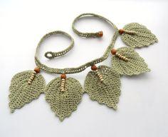 RESERVADO para Cathy Crochet collar collar de por CraftsbySigita