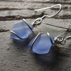 My jewelry making friends could make these beach glass earrings for me!!  LOVE!