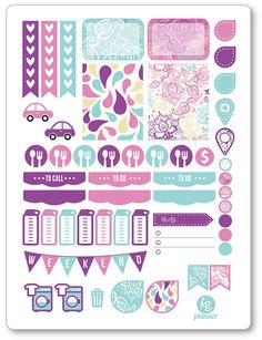 Paisley Weekly Spread Planner Stickers for Erin by PlannerPenny