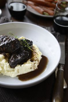 From The Kitchen: Slow-Cooked Beef Cheeks in Red Wine with Cauliflower Puree