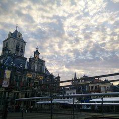 Delft wat ben je toch mooi  #kanergeengenoegvankrijgen #luchtfoto #pretty #pinksky #picoftheday #photography #instagood #instamood #delft