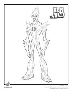 Ben 10 Coloring Pages Ghostfreak