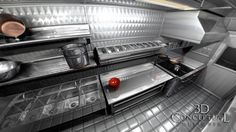 CT Notes: The side opposite the customer window), bread and soup warming on this side. For easier loading purposes, the tall refrigeration close to the rear doors. We are investigating having our own cheese paper printed on rolls and that could be built-in above the wrap and cutting work area. Can we design a 3-comp sink so that it can double as a work area when not doing dishes? A double duty area? Most likely, we'll be doing washing and sanitizing in a rental kitchen.