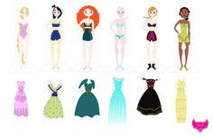 Disney Paper Dolls Part One by spicysteweddemon